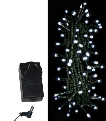 String Fairy Lights White Christmas Party LED 100 250 Wall Plug In Indoor 240V