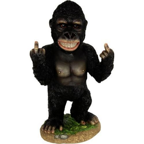 Rude Finger Statue Up Yours Fuck-Off Middle Fingers Novelty Gift Gorilla New
