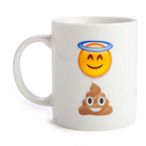 Funny Coffee Mug Mugs Tea Cup Holy Shit Emoji Ceramic White Novelty Gift New
