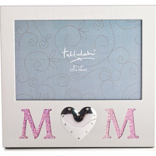 Mum Photo Frame Picture PhotoFrame Mother Silver Pink Glitter Loveheart New