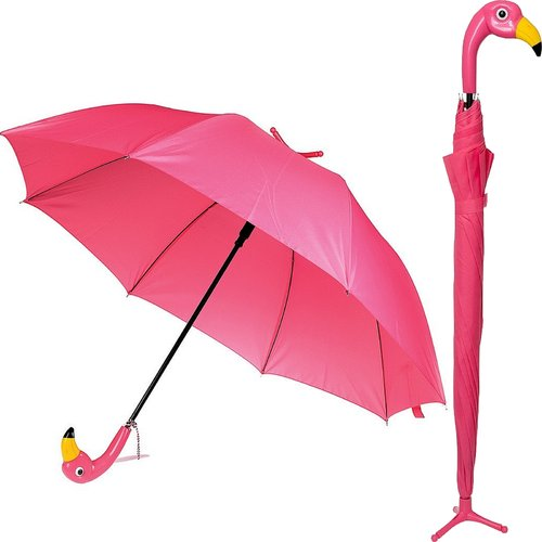 Flamingo Umbrella Pink Bird with Stand Novelty Gift for Mum New