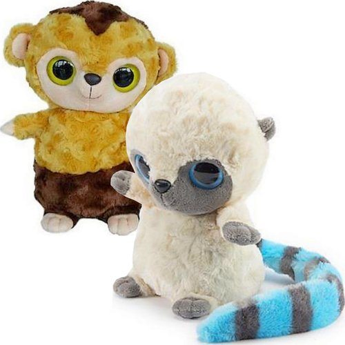 Soft Toy Plush Kids Heat Pack Heatable Roodee YooHoo and Friends Raccoon Monkey