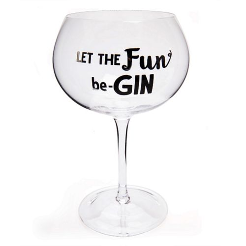 Balloon Gin Glass Let The Fun Be-Gin Glasses Christmas Birthday Gift