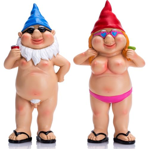Rude Garden Gnomes Naughty Funny Nude Gnome Statue Novelty Gift for Men Women