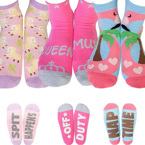 Novelty Socks Ladies Womens Mum Mother Funny Pink Christmas Birthday Gift New