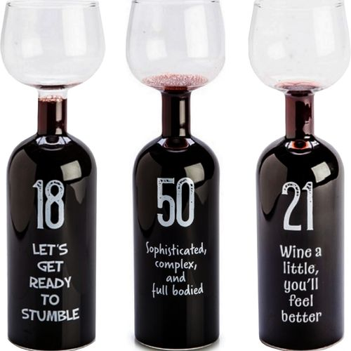 Wine Bottle Glass 18th 21st 50th Large Red White Birthday Party Novelty Gift