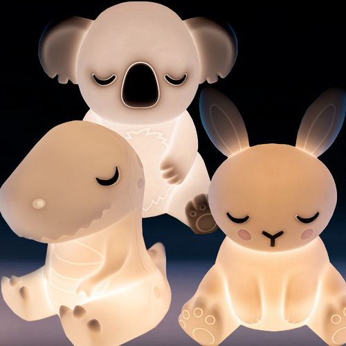 Kids Lamp Night Light Bedside Desk Touch Lampshade Bunny Koala T-Rex Bed Side